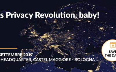 [EVENTO] Maggio 2018: it's Privacy Revolution baby – Workshop gratuito a Bologna