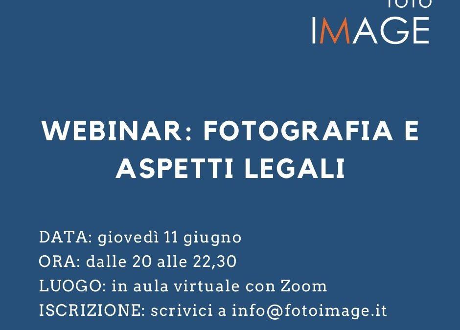 WEBINAR – Fotografia e aspetti legali – con l'Avv. Andrea Puligheddu -11 giugno 2020